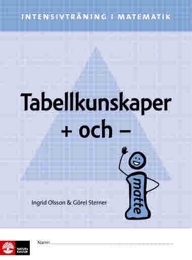 Intensivträning i matematik: Tabellkunskaper